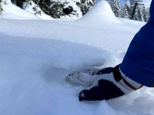 Loose, uncohesive snow below 1