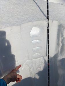 Rain crust 25-30cm down, but freezing. HS 120-130cm at 4600'-4800'