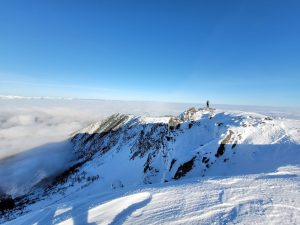 Mt. Baldy summit - above the cloud layer.