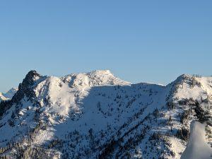 Wind sculpted snow on Lichtenberg west.