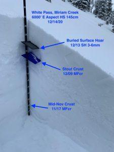 Snow profile in Miriam Creek.