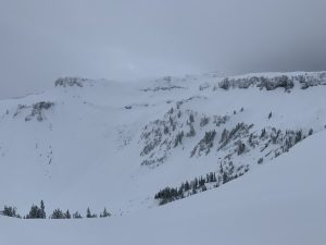 Bagley Basin from partway up the Boulderfield @ 5,200'.