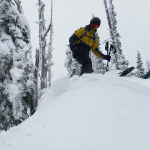Cracking in a fresh drift at 5,600ft