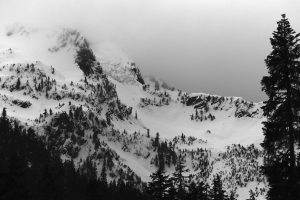 Chair Peak/Source Lake. Crowns, small and large, in many places. Licensed CC-BY-NC-SA