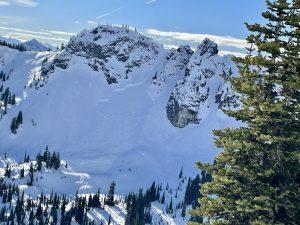 Large slab near Sourdough gap (N, ~ 6,000 ft)