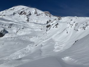 Very Large (D3) avalanches from the Nisqually Chute and Pebble Creek Cliffs.