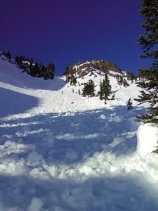Top of chute, partial slide