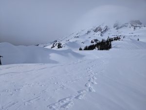 Some of the largest cornices I've seen built on the ridge near the Golden Gates.