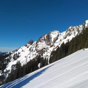 Slopes are smooth and firm.