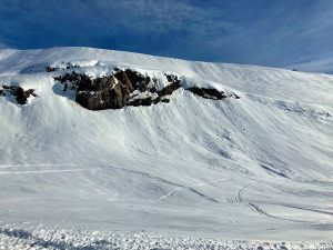 Small avalanches which probably occurred Jan 12.