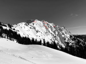 Old crown lines on Magenta Peak from around 6200ft.
