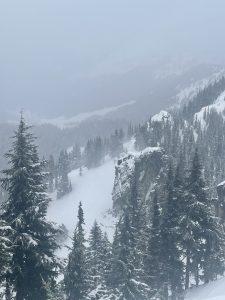 Snow blowing @ ridge top