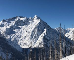 The stellar day afforded views into nearby alpine basins, where numerous size 2-2.5 windslabs ran on Feb.1-2.