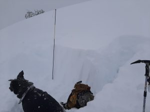 Rutschblock test pit