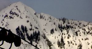 Crown on Red Mountain extending across the entire ridge.