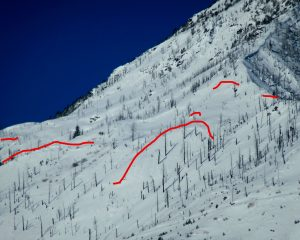 This is the starting zone, with crowns highlighted in red.