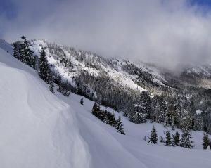 Multiple recent slides off the ridge