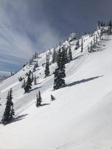 Goobers flowing down the slopes. Several were pinwheels