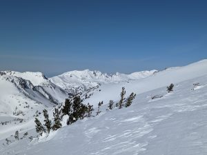 Avalanche crowns in the core Chiwaukum.