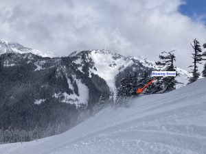 Wind loading and growing cornices on a north aspect at 5200ft