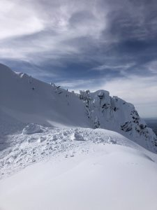 photo of the cornice collapse
