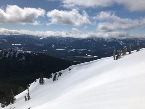 Cornice shot #2 - Looking west; southeastern aspect is pictured