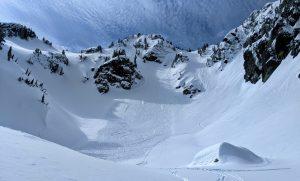 Skier triggered slide