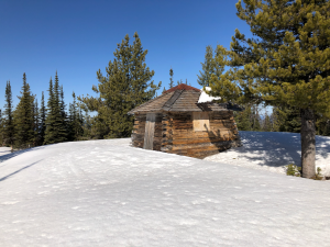 Lookout cabin on summit
