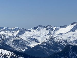 Recent large natural wet loose avalanche near 5500ft on an E aspect in the Twin Sisters Range