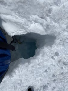 Hole I fell into.