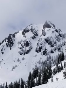 Looking back from Sourdough Gap