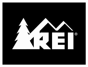 REI Black and White Logo